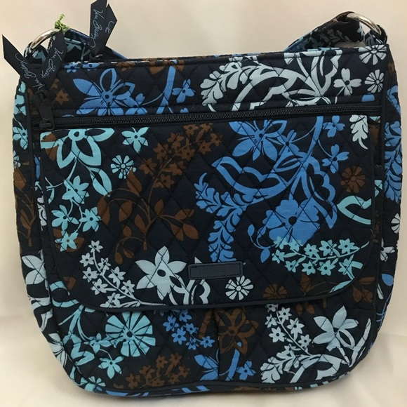 4a210cfbdc Vera Bradley Java Floral Double Zip Mailbag NWT